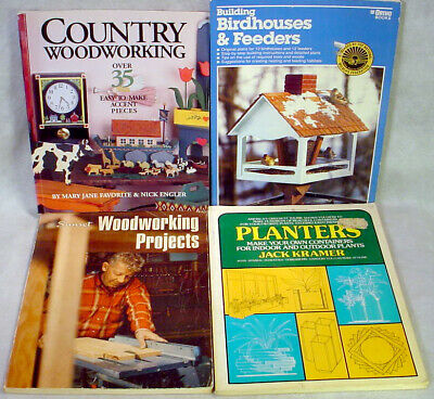 WOODWORKING Book Lot  PROJECTS Country BIRD HOUSE Feeder PLANTERS Plans PATTERNS