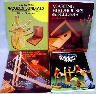 WOODWORKING Book Lot  PROJECT Wooden SUNDIAL Toys BIRD HOUSE Feeder PATTERN Plan