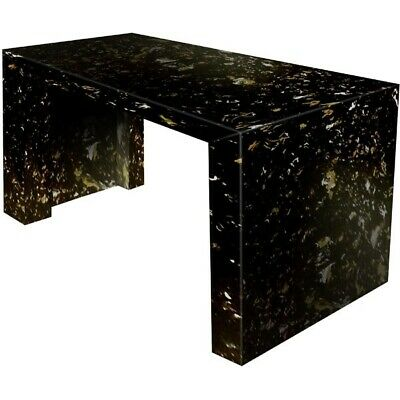 Black & Gold Swirl Marble 1800mm x 700mm Table Set for Hotel and Cafe Use