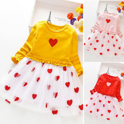 Kids Girls dress Children Party Girls dress Autumn Printed Casual Lovely Girls