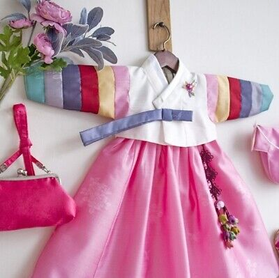 RUA Rainbow-Colored Hanbok Small Korean Traditional Clothing Girl IV PK_imga