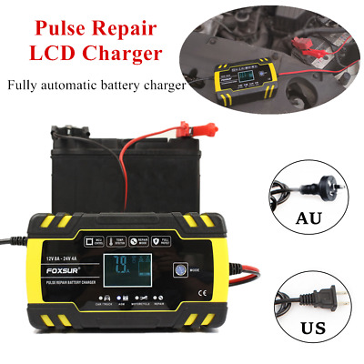 Car Motorcycle Battery Charger Intelligent Touch Screen Pulse Repair LCD Charger
