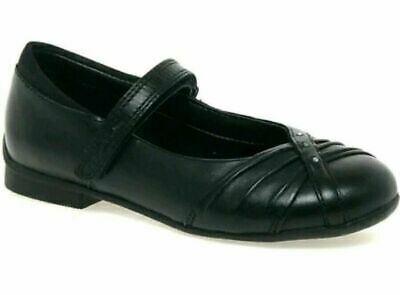 Clarks Movello8 Girls Black Leather School Shoes infant SIZE 10.5 F /28.5 EU kid