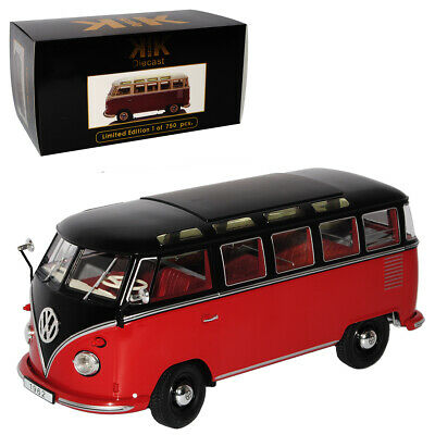 VW Volkswagen T1 Rot Weiss Samba Bully Bus 1950-1967 1//24 Modellcarsonline Model