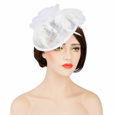 Wedding Fascinator Headband Aliceband Ladies Day Races Royal Ascot Pillbox Hat