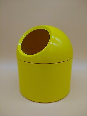 Mid Century Vintage Makio Hasuike by Gedy Italy 1970's VANITY container YELLOW