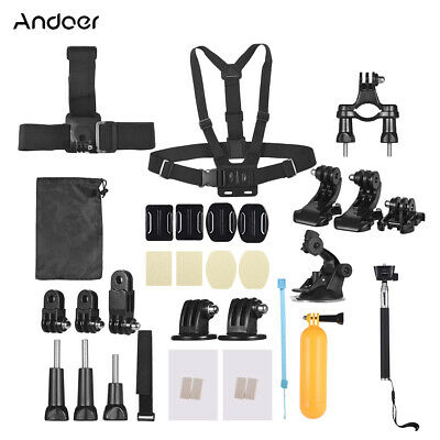 Andoer 37-In-1 Basic Common Action Camera Accessories Kit for GoPro hero H8S2