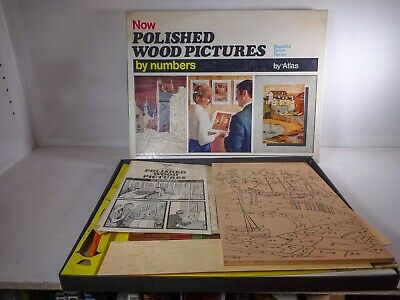 Vintage Atlas | Now Polished Wood Pictures by Numbers
