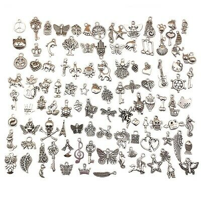 Charms for Jewelry Making, 100 Style Pendants for DIY Bracelets Necklace Making