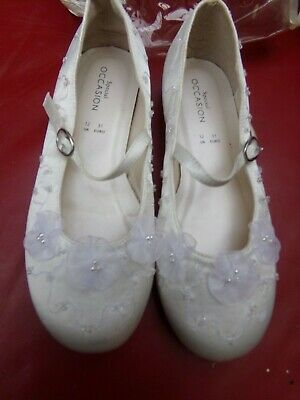 Debenhams Special Occasion Children Flower Girl/ Bridesmaid Ivory Shoes Size 12