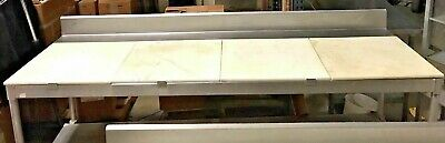 """Prep Table Commercial Stainless Table With Poly Cutting Surface 96"""" W"""