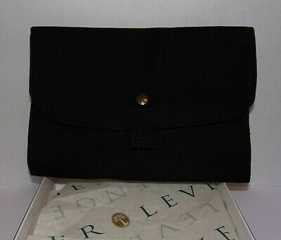 NEW LEVENGER Black Book Traveler Small Paperback Cover w/ Book Bungee Boxed RARE
