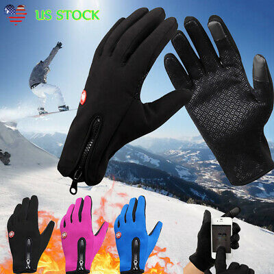 Winter Men's Women's Touch Screen Windproof Outdoor Sports Cycling Skiing Gloves