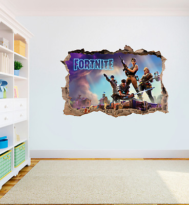 FORTNITE Game High Quality Bedroom Wall Art Sticker Decal Print Boys Girls