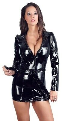 Lack Mantelkleid Mantel Mini Kleid Minikleid Jacke Lackkleid Erotik PVC Latex