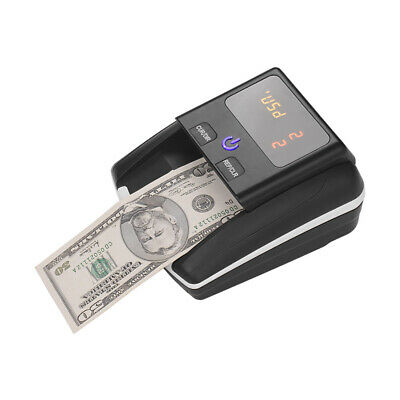 Money Bill Counter Machine Cash Counting Counterfeit Detector UV/MG Tester F1Q6