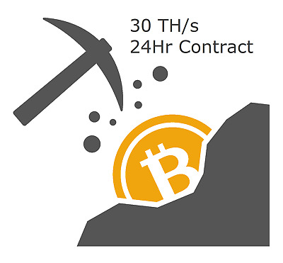 30TH/s Bitcoin Mining contract 24 Hour (SHA256 mining)