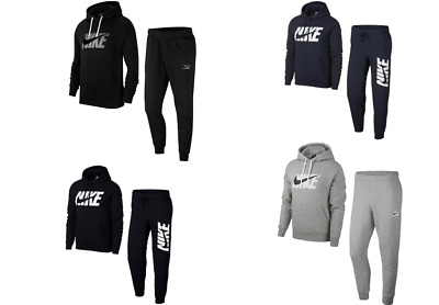 Nike Mens Tracksuit Fleece Hooded Jogging Bottms Joggers - S M L XL Newest Model