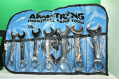 """Armstrong 7 Piece, 3/8 to 3/4"""", 12 Point Stubby Combination Wrench Set 25-609"""