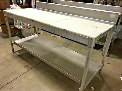 Prep Table Commercial Table With Poly Cutting Surface 72""