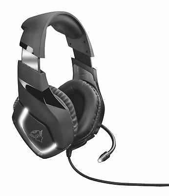 Trust Gaming  GXT 380 Doxx Illuminated Headset for PC and Laptop, Inline Remote,