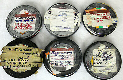 6 Vintage 400FT 16mm film reel cans cannisters, with Ultravox sound!, 5 for BBC