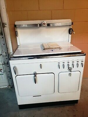 """Vintage 1940 Model B Chambers Gas Oven Range """"Cook with the Gas Turned Off"""""""