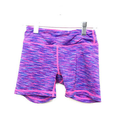 90 Degree By Reflex Girls Hot Pink Athletic Dance Gymnastic Shorts Size 7-8 Pink