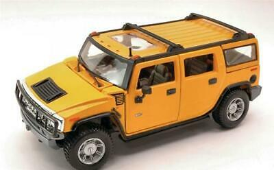 Hummer H2 Suv 2003 Yellow Maisto 1:27 MI31231Y Model