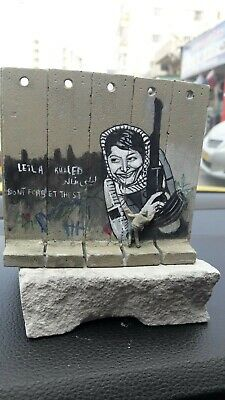 Banksy Leyla Khaled Walled Off Hotel wall section LARGE + Receipt ORIGINAL RARE