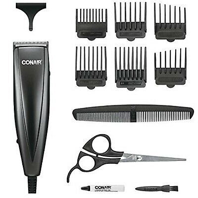 Conair Professional Men Hair Clippers Home Cutting Barber Kit Machine Trimmer