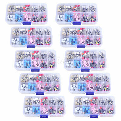 10PACKS Dental Prophy Brush Cup Rubber Disposable Polisher Latch Flat UK
