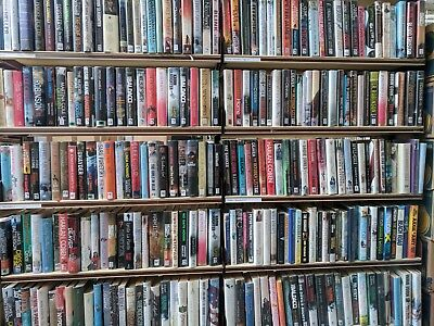 ADULT FICTION BOOKS: HUGE job lot mixed box of 200 hardback books for Book Arch