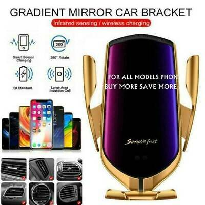 Wireless Charger Automatic Clamping Smart Sensor Car Phone Mount Holder Rack
