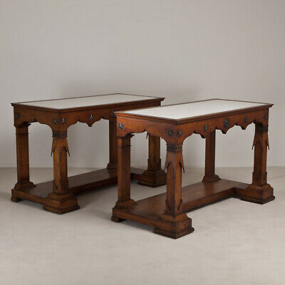 A Rare Pair of Transitional Fruitwood Console Tables from the Baltics circa 1835