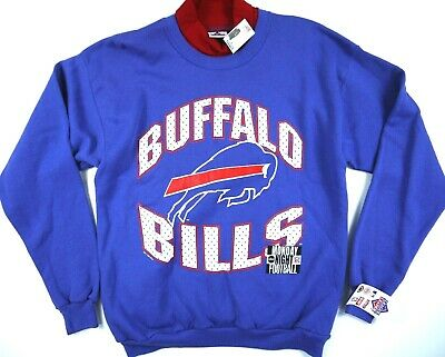 VINTAGE 90s BUFFALO BILLS SWEATSHIRT DEADSTOCK NWT FOOTBALL TURTLENECK MENS L