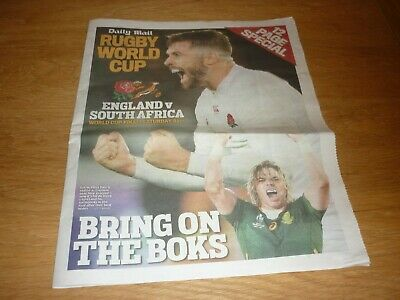Daily Mail Rugby World Cup Final England v South Africa  12 Page Special Pullout