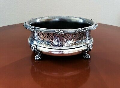Antique Victorian Ornate Silver-Plated Claw-Footed Planter Jardinere