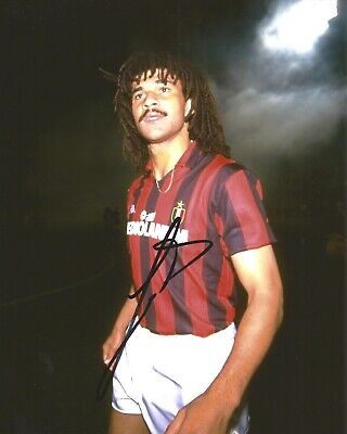 Hand Signed 8x10 photo RUUD GULLIT - HOLLAND Football - MILAN + PROOF + my COA