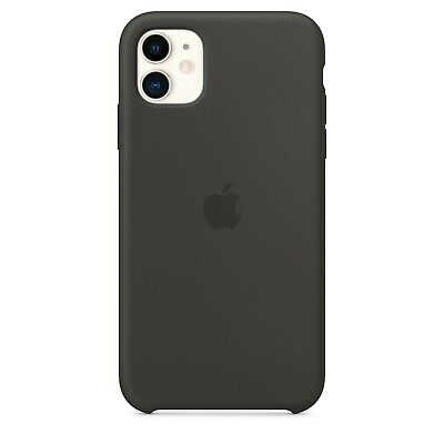 Apple Custodia Cover Per Iphone 11 Silicone Case Originale Black White