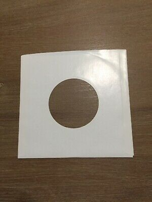 """100 ct 7""""45 RPM White Paper Record Inner Sleeves Used"""