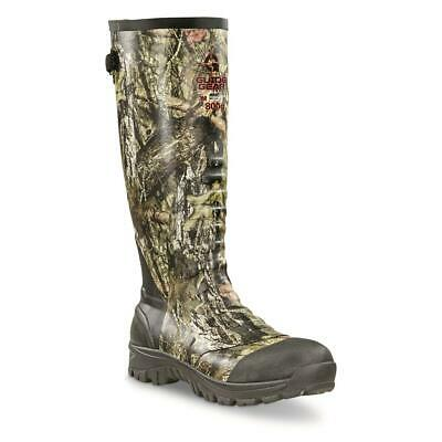 New Lightweight Mens Ankle Fit Insulated Rubber Boots, 800-gram Mossy Oak Camo