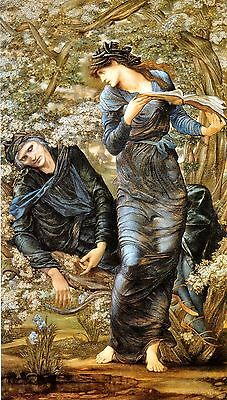 Old Masters A4 Reprint  (12) The Beguiling of Merlin Edward Burne-Jones 1874