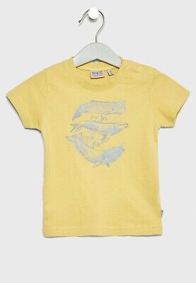 Wheat Infant Whale T-Shirt / Yellow 12 Months Brand New With Defect Free P&P
