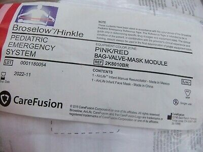 BROSELOW PEDIATRIC EMERGENCY SYSTEM- USSF Issue pouch & Supplies RED/PINK BVM