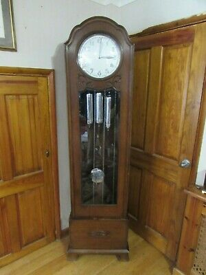 Art Deco Westminster Chime Longcase Clock, Kieninger 1932 Patent, Fully Running
