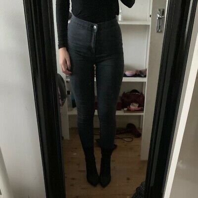 Washed Black High Waisted Skinny Joni Jeans Topshop W28 L30