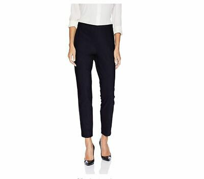 "Lark & Ro Women's Stretch Side Zip Pant, Black, 14 Inseam 27.5"" Cotton Blend NEW"