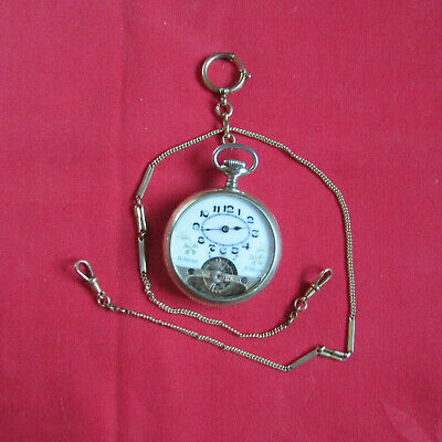 "Antique Swiss ""Wyss Freres"" Hebdomas Style 8-Day Pocket Watch - R626B"