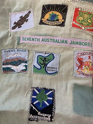 Vintage Scout Shirt With Badges Patches Bulk